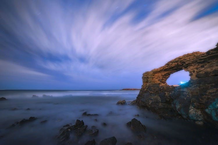 Volcanic eye Rocks Water Longexposure Stars Cave Architecture Lighthouse Eyes Close-up Sea Sky Beauty In Nature Scenics - Nature Horizon Over Water Rock Cloud - Sky Tranquility Beach Solid Rock - Object Land Tranquil Scene Horizon No People Nature Idyllic Long Exposure Outdoors