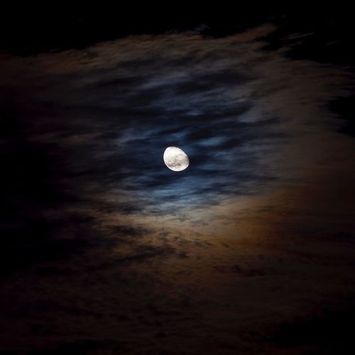 Moon Astronomy Beauty In Nature Nature Night Scenics Sky Cloud - Sky No People Outdoors Space Horizontal Eyeofthesky