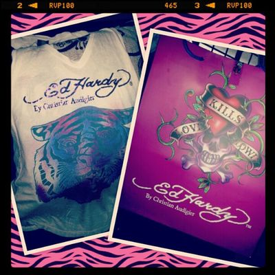 ~ a new Ed Hardy tank top ! Tanxxx to my brother.. loves it much ! ;)