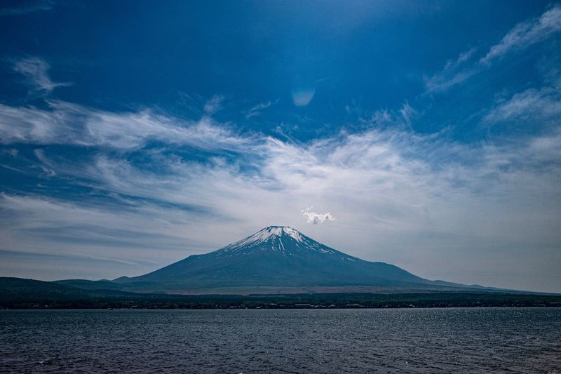Mt. Fuji. Fujisan Mt. Fuji. Fuji Yamanakako Yamanaka Lake EyeEm Selects Mountain Sky Scenics - Nature Cloud - Sky Beauty In Nature No People Snow Tranquil Scene Travel Destinations Landscape Nature Water Snowcapped Mountain Tranquility Volcano Non-urban Scene Environment Mountain Peak Outdoors