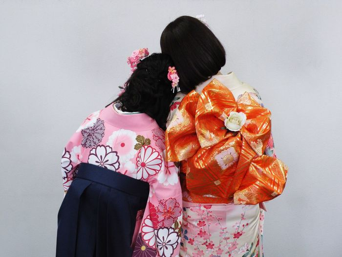Best friend, I miss you😭 Friend Graduate Ceremony Kimono Adults Only Only Women Adult People Rear View
