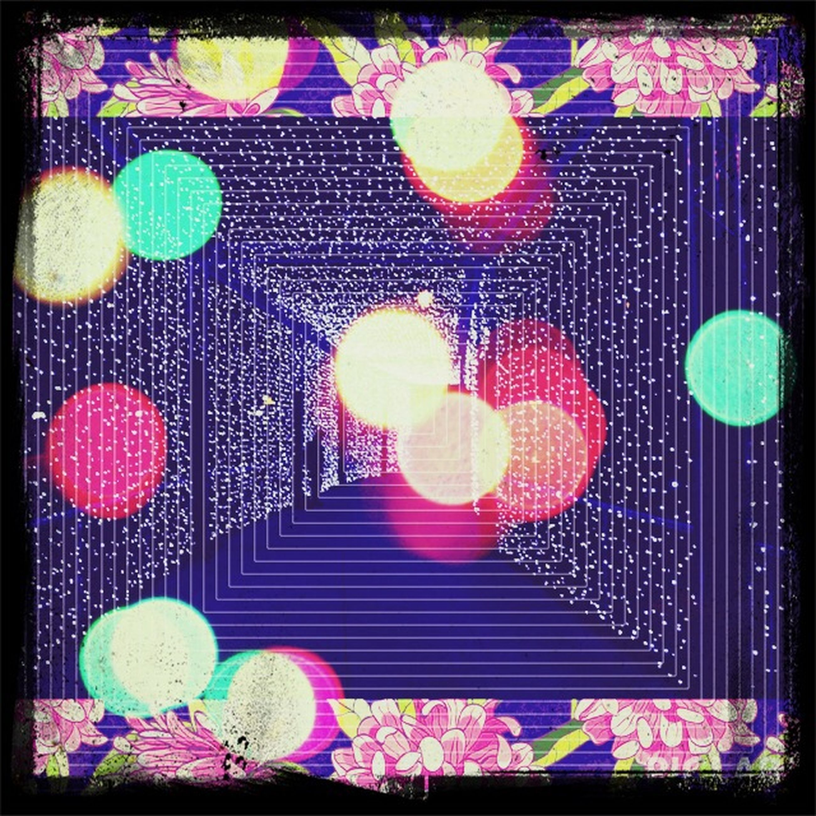 transfer print, auto post production filter, multi colored, art and craft, creativity, art, indoors, pattern, wall - building feature, decoration, design, flower, full frame, floral pattern, no people, variation, backgrounds, pink color, high angle view, built structure