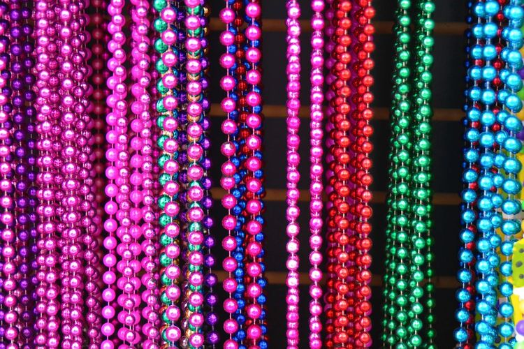 Full Frame Shot Of Multi Colored Pearls
