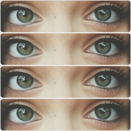 just felt like taking a picture of my eyes i guess // Greeneyes