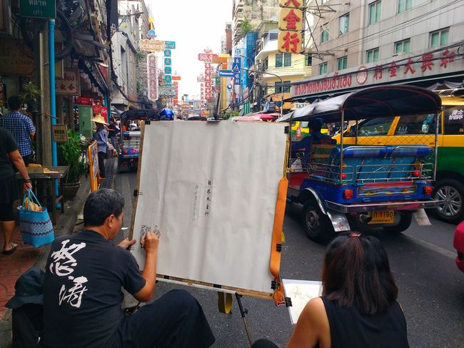 Chinatown in Bangkok🎎 Transportation Rear View City Outdoors City Life Mode Of Transport Land Vehicle Real People Two People Leisure Activity Adults Only Day Men People Togetherness Architecture Adult Only Men Chinatown Bangkok Backpacking Travel Photography Worldtravel Photooftheday Thailand