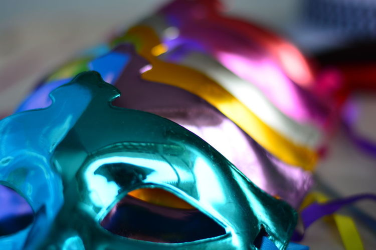 Anonymous Close-up Horizontal Mask Multi Colored No People Party Mask Party Time
