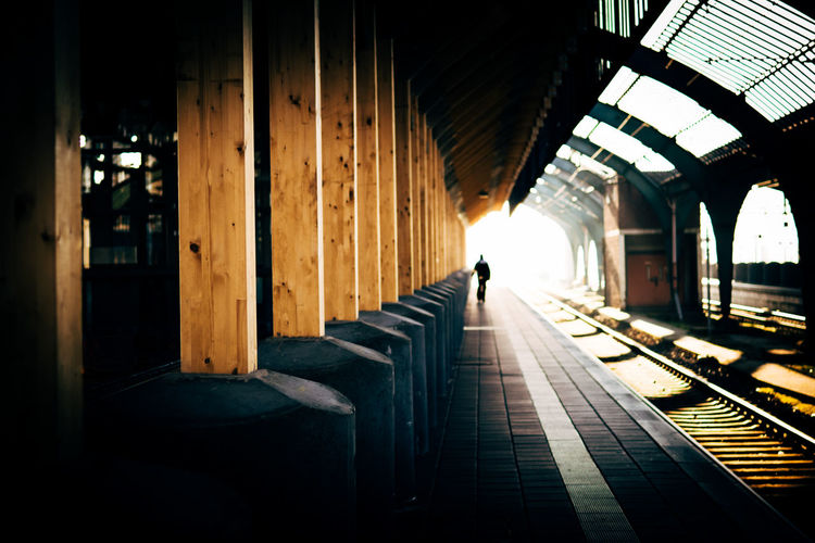 lines II. Architecture Built_Structure Day Indoors  Leading Lines No People Rail Transportation Railroad Station Platform Sunlight Transportation Unrecognizable Person Let's Go. Together. EyeEm Selects Capture Tomorrow