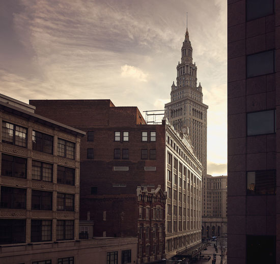 Cleveland City Building Exterior Skyscraper Built Structure Cityscape Colour Your Horizn