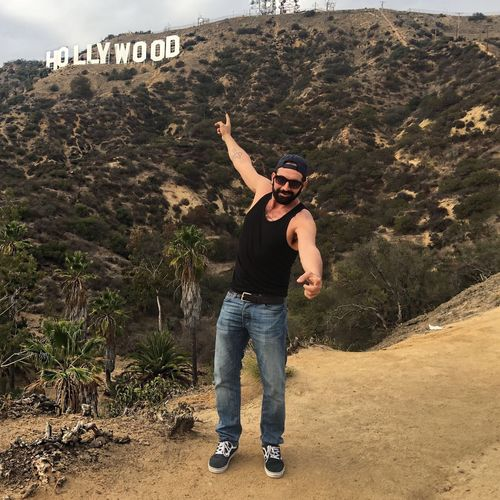 Me in Hollywood California Roberto Blasi Hollywood Hollywood Sign Los Angeles, California Full Length Leisure Activity One Person Casual Clothing Lifestyles Real People Day Nature Men Outdoors Front View Land Sunlight Human Arm Young Adult Young Men Standing Arms Raised Adult