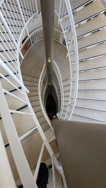 Looking down... EyeEm Selects Spiral Indoors  Spiral Staircase No People Architecture Day
