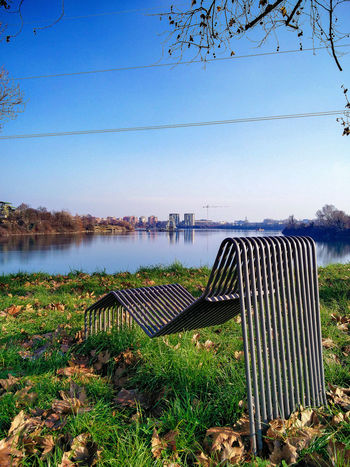 Have A Seat? Lake View Blue Sky Water Reflections Genuary 2016 Eyem Nature Lovers  Segrate January