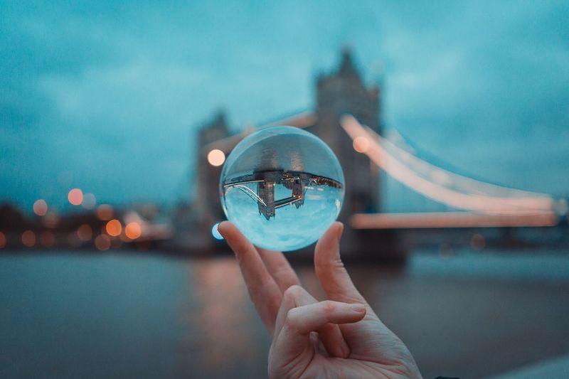 Tower bridge lens ball