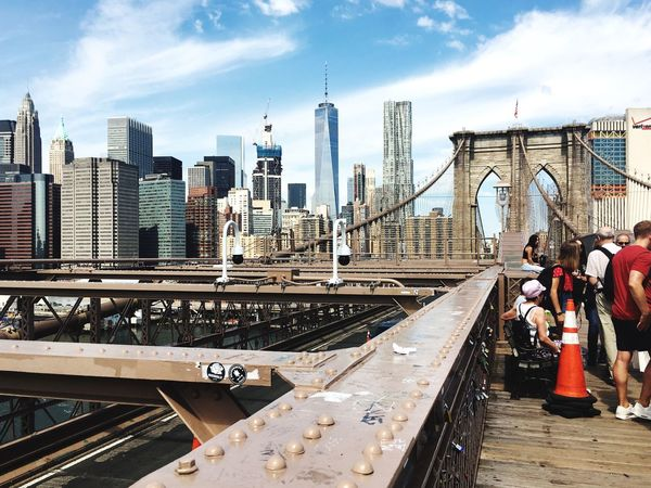 Brooklyn Bridge / New York Check This Out Hello World Taking Photos Architecture Glass Metal Wood Skyline 2016