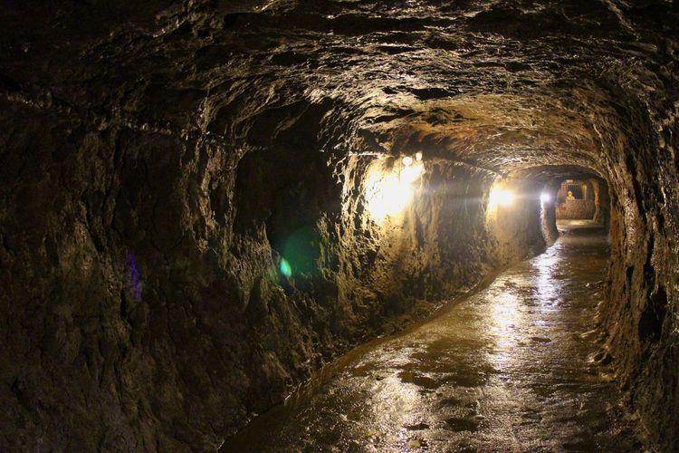 tunnel Water Wet Illuminated No People Tunnel Philippines Davao City JapaneseTunnel