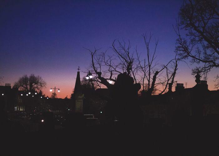 Sleepytown Building Exterior Built Structure Sunset Sky Illuminated Clear Sky Dusk Outdoors City Nature