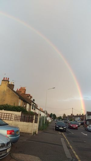 A rainbow over Romford! Weird or what!!