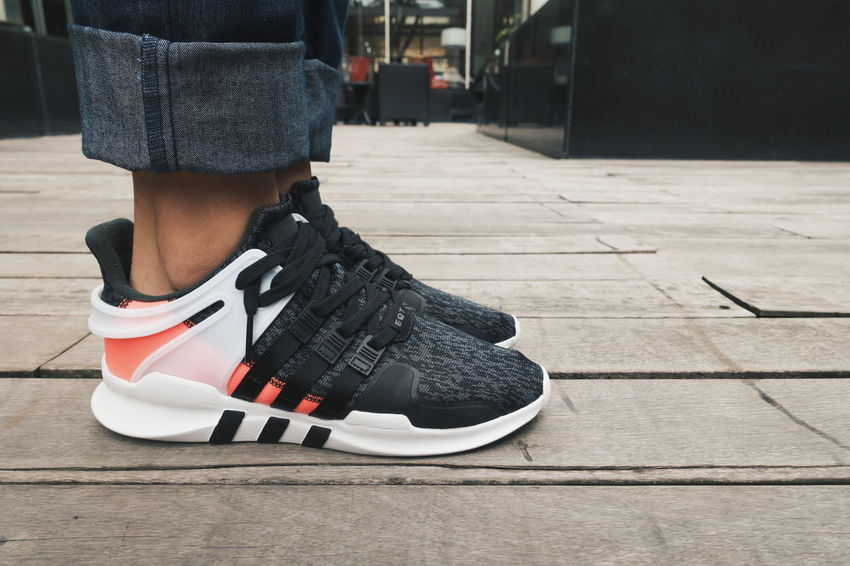 One Person Shoe Adult One Man Only People Adults Only Only Men Day Low Section One Young Man Only Outdoors Close-up Young Adult Adidas Adidas Equipment Eqt Sneakers Sneaker Head Footwear VSCO DaryllSwer