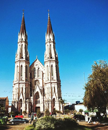 I Love My City Catholic Church Kathedral in Santa Cruz Do Sul, RS Brazil. One of the biggest church in Late Gothic Style in South America.