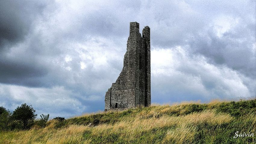 Old Castle Tower Abandoned Dramatic Sky Cloudy Sky Ladyphotographerofthemonth EyeEm Best Edits Hdr Edit Eyeem Ireland Sky_collection Sky And Clouds Hdr_Collection Landscapes With WhiteWall The Architect - 2016 EyeEm Awards