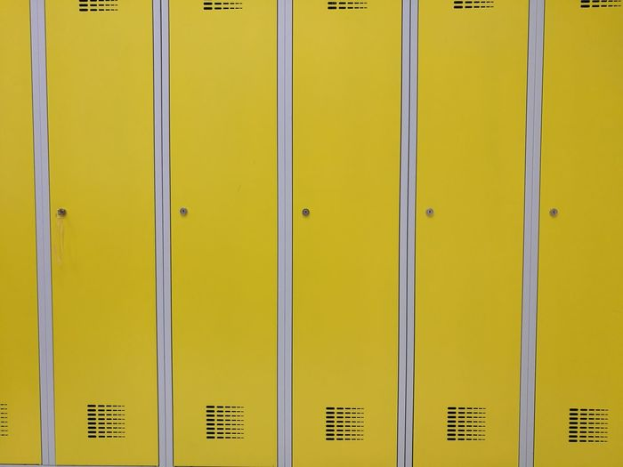 Full Frame Shot Of Yellow Lockers