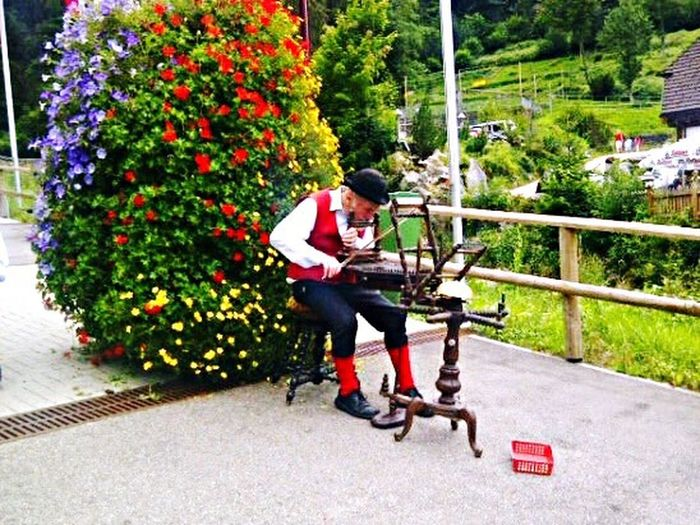 Musician Playing Music in Germany Blackforest Green Singing Nature Love Passion Man Waterfall Tourism Adventure Journey