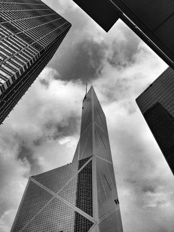 Hello World Skyscraper HongKong Architecture Geometry Lines Triangle Fengshui  Fine Art Photography