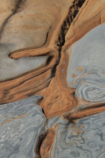 Full Frame Shot Of Rock Formation At Point Lobos State Reserve