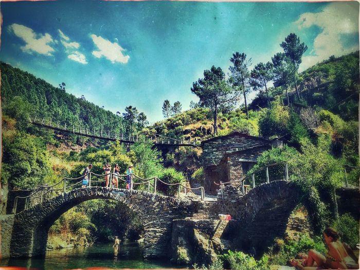Summer Piodao HDR Serradaestrela Portugal Woodbridge Bridge River Riverside