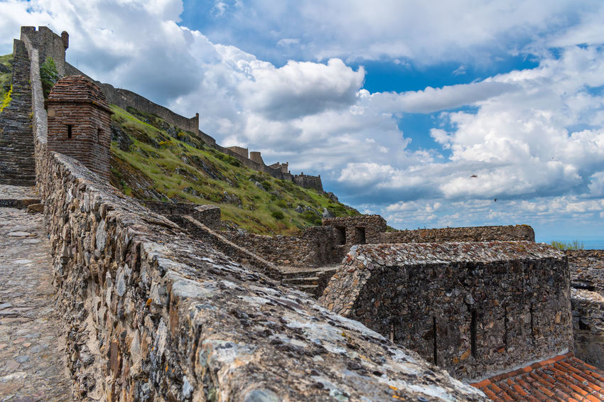 Castelo de Marvão Ancient Ancient Civilization Archaeology Architecture Building Exterior Built Structure Cloud - Sky Day History Mountain Nature No People Old Old Ruin Outdoors Ruined Scenics - Nature Sky Stone Wall The Past Travel Travel Destinations Wall
