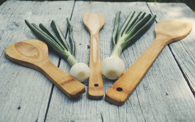 Cooking Vegetarian Vegetarian Food Cutting Board Eating Utensil Food Food And Drink Freshness Green Onion Healthy Eating Herb Indoors  Kitchen Life Kitchen Spoon Kitchen Utensil No People Onion Raw Food Still Life Table Vegetable Vegetables Wellbeing Wood - Material Wooden Spoon The Still Life Photographer - 2018 EyeEm Awards The Creative - 2018 EyeEm Awards