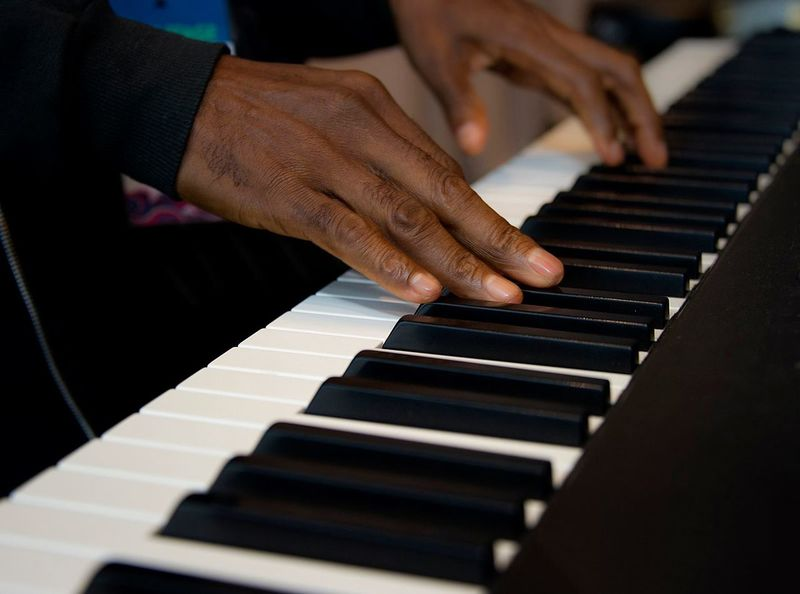 In concert. Philadelphia Piano Concert Black & White Blackandwhite United States Playing Piano Monochrome Musician Music Things I Like Getty Images Getty