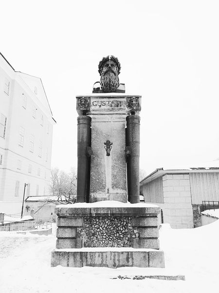 Architecture Monument King Statue Black & White Uppsala, Sweden Uppsala Bust  Gustav Vasa Winter Snow