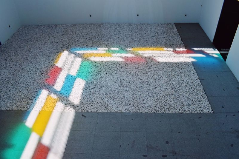 Multi Colored High Angle View Road Transportation Marking Road Marking Symbol No People