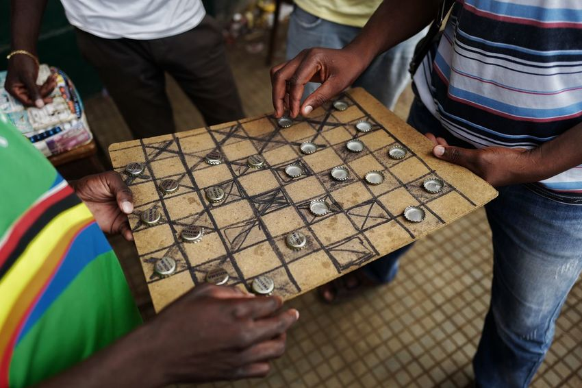 Africa Checkers Game Hands Market Sao Tome Sao Tome E Principe Travel