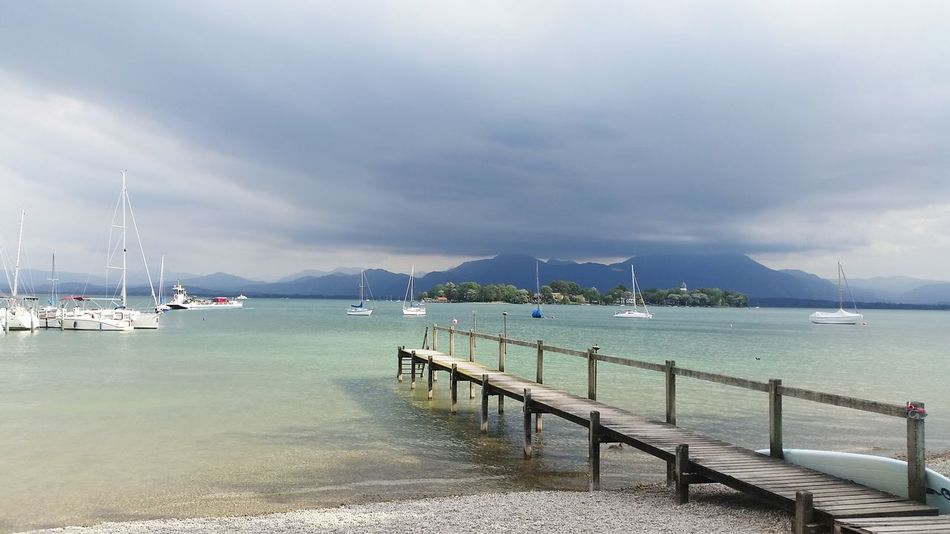 Chiemsee Landscape Landscape_photography Lakes  Bavaria Enjoying Life Helloworld Light And Shadow Storm Clouds And Sky