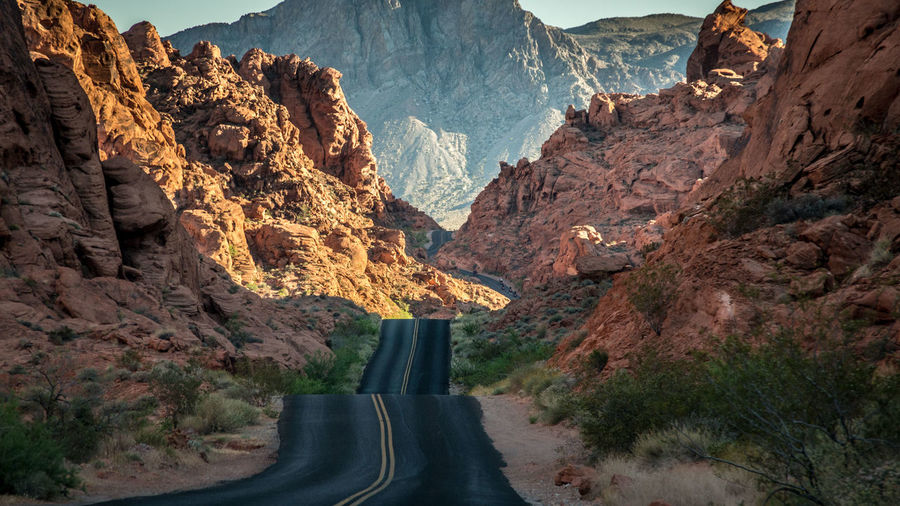 on the road II Asphalt Beauty In Nature Day Drive Drive And Shoot EyeEm Best Shots EyeEm Gallery Landscape Mountain Mountain Range Nature Nevada On The Road Outdoor Photography Outdoors Physical Geography Red Road Road Trip Scenics Sky USA Valley Of Fire The Great Outdoors - 2017 EyeEm Awards Let's Go. Together. Lost In The Landscape