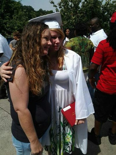 Me and my ma at graduation.
