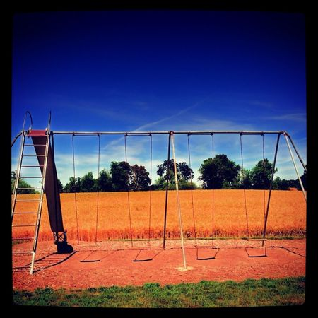 Americana On The Playground Wheat Field Peoria Road