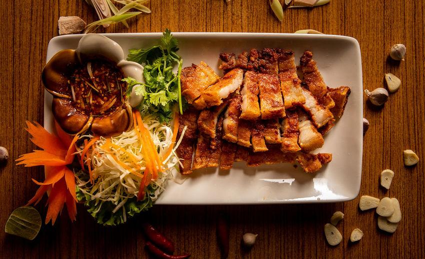 Crispy pork on