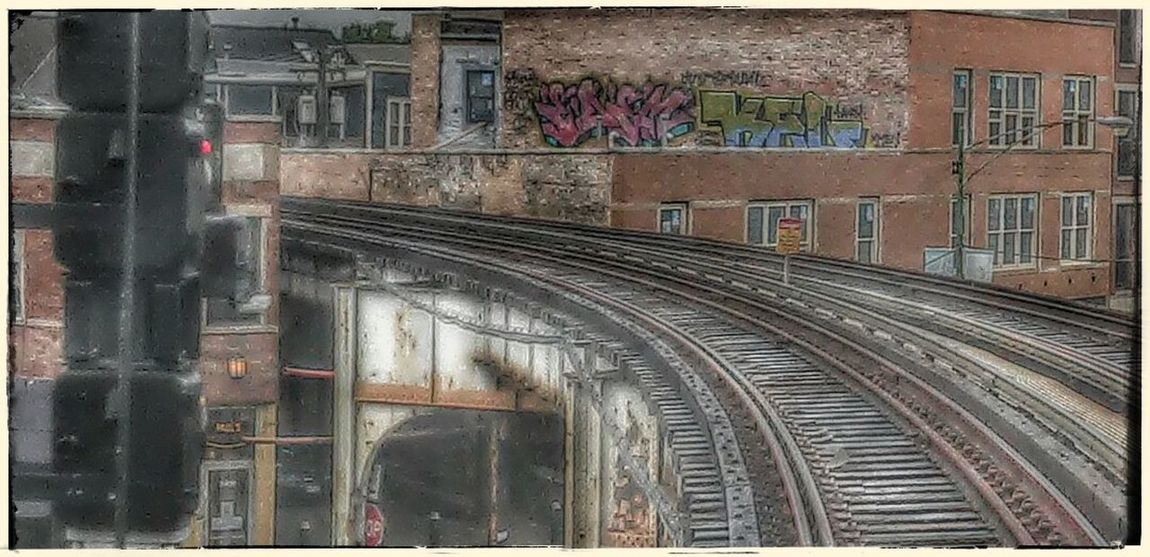 Brown Lines - Around the Bend Architecture Chicago Day Graffiti Outdoors Railroad Track Train Urban Urbanphotography Neighborhood Map The Street Photographer - 2017 EyeEm Awards The Photojournalist - 2017 EyeEm Awards EyeEmNewHere Chicago El