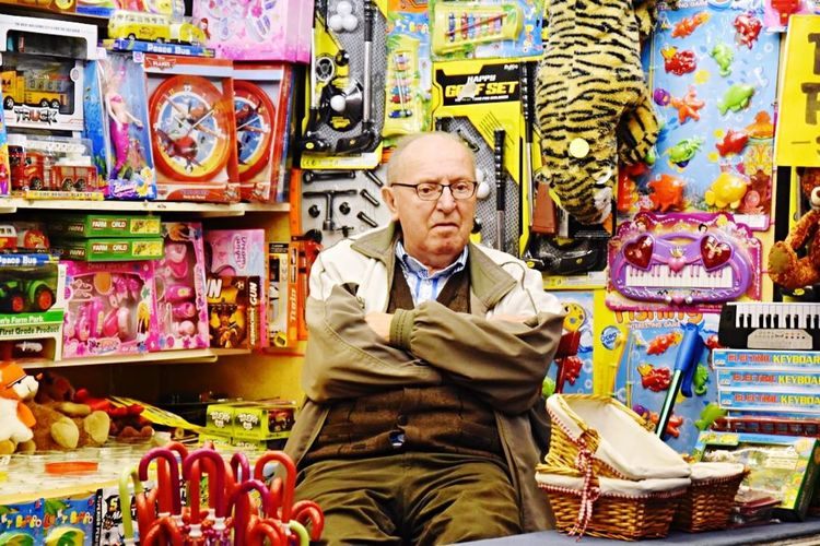 Toystore Old Sales Man Loving His Job!! Face Expression Families Business