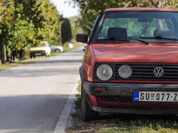Golf 2 Red Car
