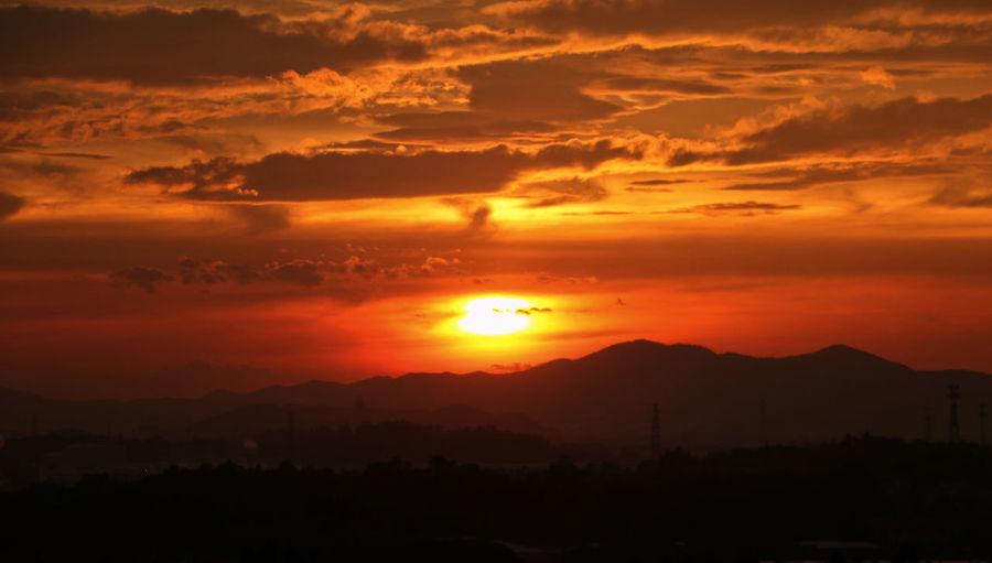 School Sun Eos760d My Love❤ Photo By Jie 日落日出环院日落