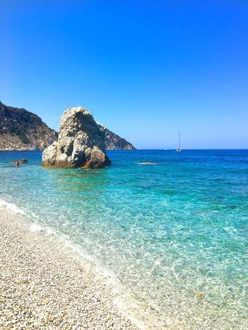 Summer Day Beach Outdoors Sea Blue Water Clear Sky Scenics Nature Beauty In Nature Tranquil Scene Sunlight Tranquility Horizon Over Water Idyllic Sand No People Sky Isoladelba Italy Loveitaly