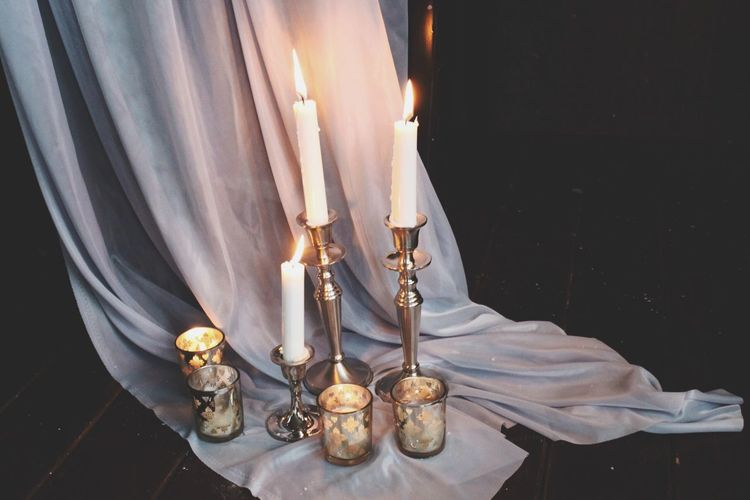 Candles On Textile