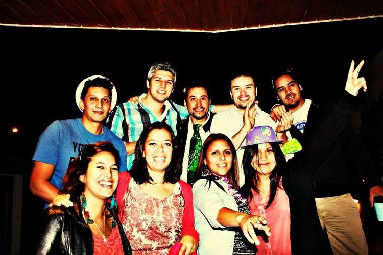 AñoNuevo2014 La pandilla festejando.
