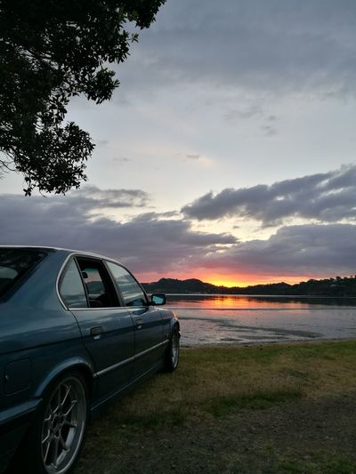 520i BMW!!! McGregors Bay Sunset Silhouettes Beauty In Nature