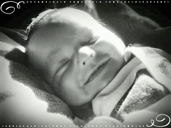 I Love My Grandson Perfect Photography Black And White Portrait Not only was it his first day home it was his first smile. He knew that he was home,