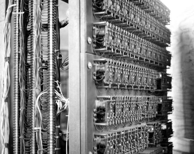 Architecture Building Exterior Cable Close-up Connection Day Electricity  Indoors  Large Group Of Objects Mother Board No People Technology Blackandwhite Monochrome Black And White Blackandwhite Photography Elevator Switches