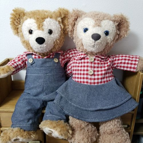 go out Go Out Matching A Date Country カントリー デート お揃い ギンガムチェック Gingham Check Child Childhood Stuffed Toy Teddy Bear Stuffed Boys Togetherness Representing Doll Friendship
